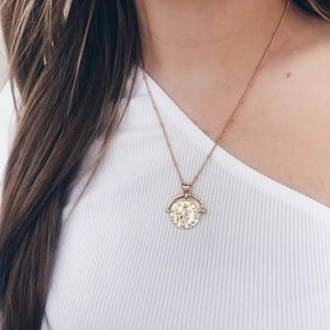 🔥2020 Trend🔥18k Gold Plated Greek Coin Necklace